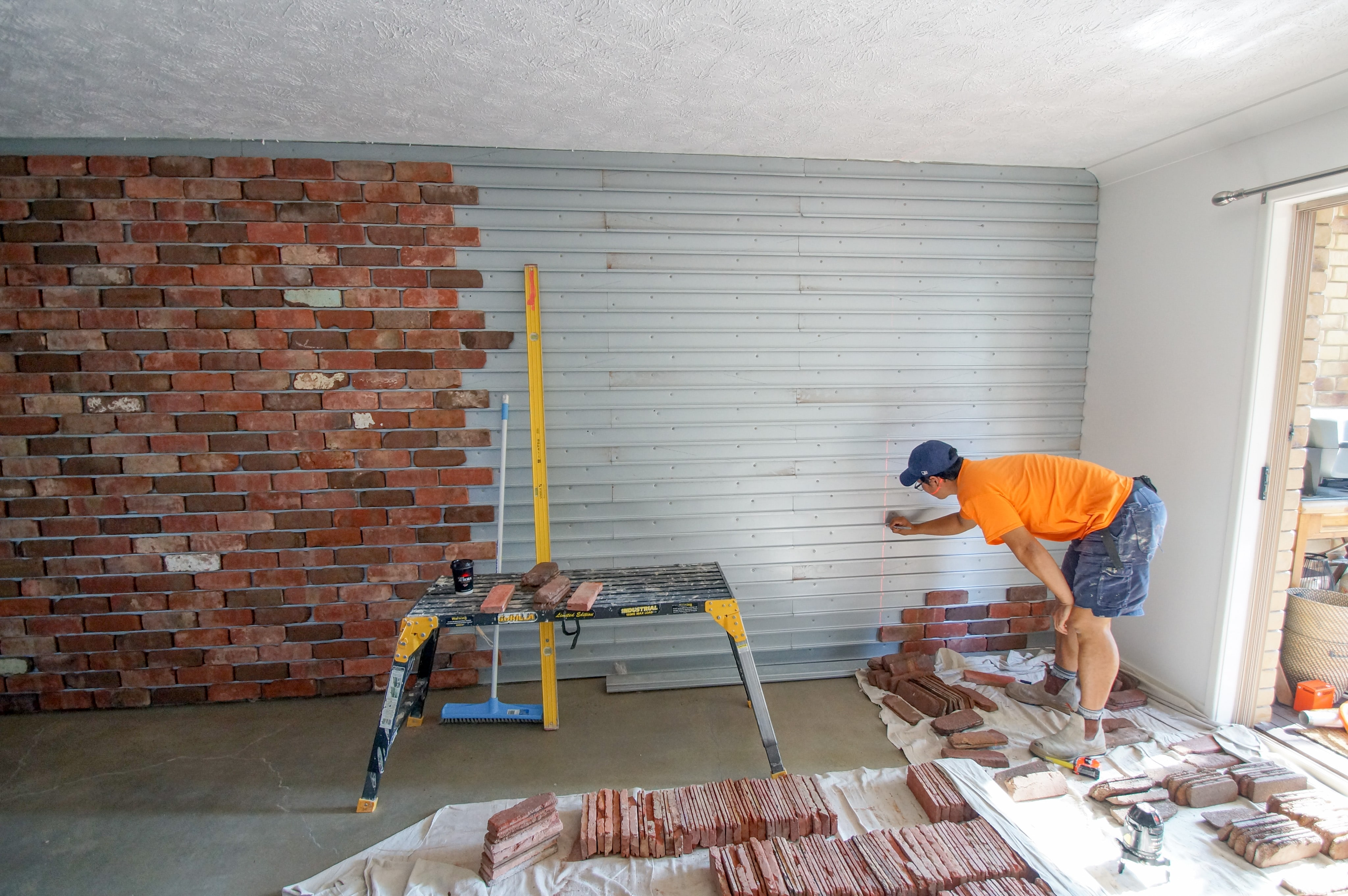 Brick Veneer Feature Wall Seq Tiling And Cladding Service